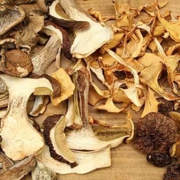 набор сушеных грибов
