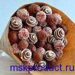 Купить букет из свежей клубники в шоколаде с доставкой
